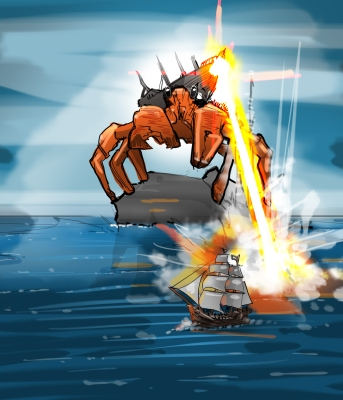 Laser Crab by Mg
