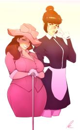 Magnolia and Ressa by pkay