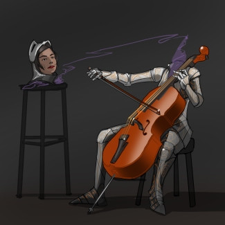 Cellist by Mg